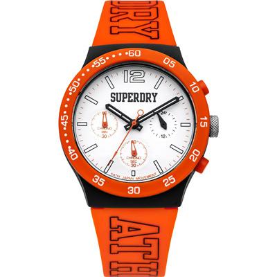 Superdry極度乾燥 青春無止盡三眼運動腕錶-SYG205O/41mm