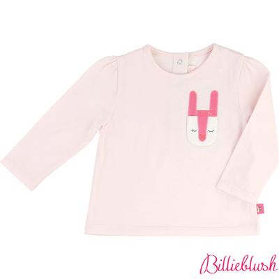 Billieblush女嬰粉色兔子純棉T恤