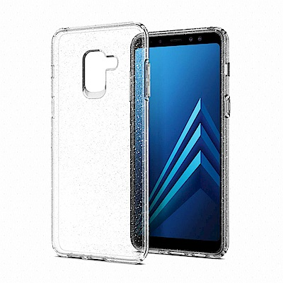 SGP Galaxy A8 (2018) Liquid Crystal-彈性保護殼-水晶