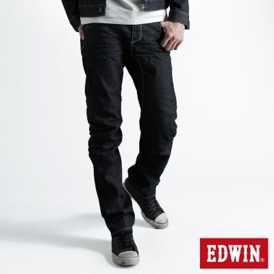 EDWIN-窄直筒-E-F袋蓋牛仔褲-男-原藍色