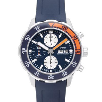 IWC 萬國錶 Aquatimer Chronograph 計時潛水機械腕錶-藍/橘圈/44mm