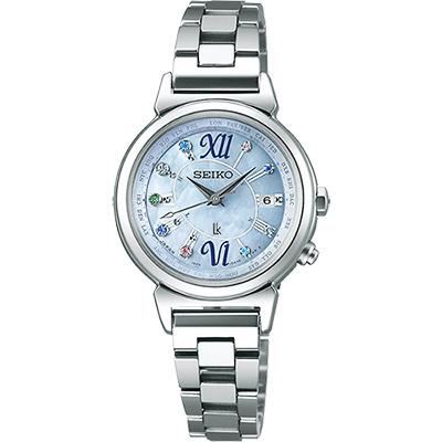 (無卡分期6期)SEIKO LUKIA 美好時光限量太陽能電波腕錶-藍/28mm