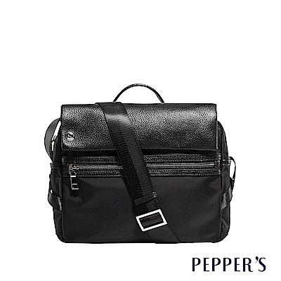 PEPPER`S  Blake 個性掀蓋斜背包M - 煙燻黑