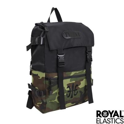 Royal Elastics - 撞色潮流休閒後背包 - Light輕盈羽量系列 - 黑/迷彩