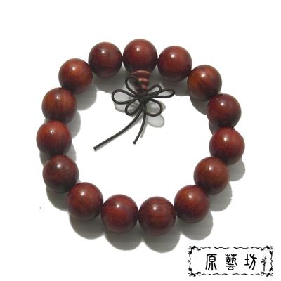原藝坊 貓眼紫檀木手珠(直徑約15mm)