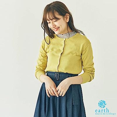 earth music 接觸涼感定番圓領開襟罩衫