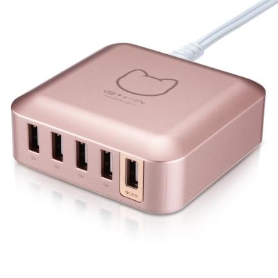 PROBOX QC2.0 5埠USB高性能充電器 (HA2-50U5Q)-玫瑰金