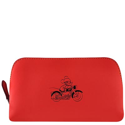 COACH Disney紅色Mickey烙印化妝包