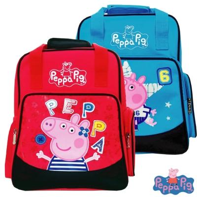 Peppa Pig 粉紅豬兩用護脊後背書包(梅紅/水藍)佩佩豬