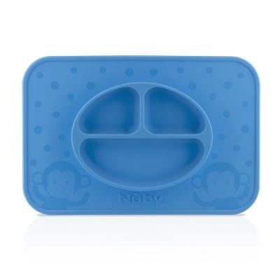 Nuby 矽膠餐盤(6m+)