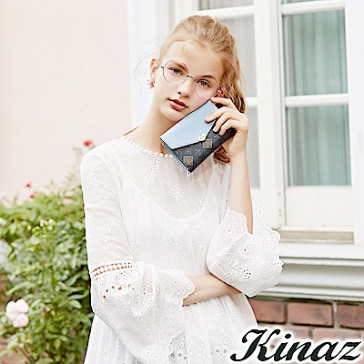 KINAZ 鏡中美人三折式中夾-經典深藍-莊園系列-快