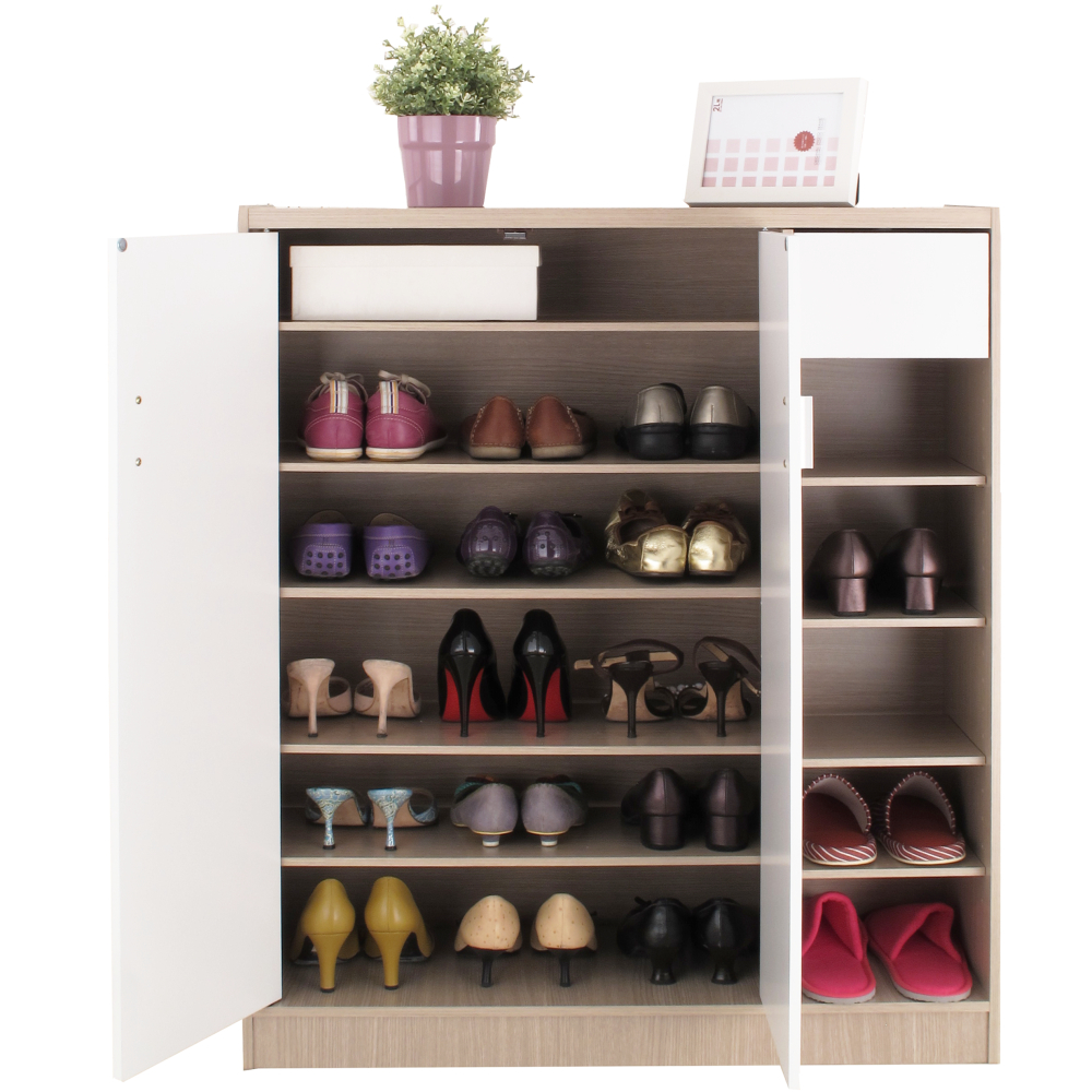 【EASY HOME】雙門附小抽鞋櫃-可收納23雙鞋
