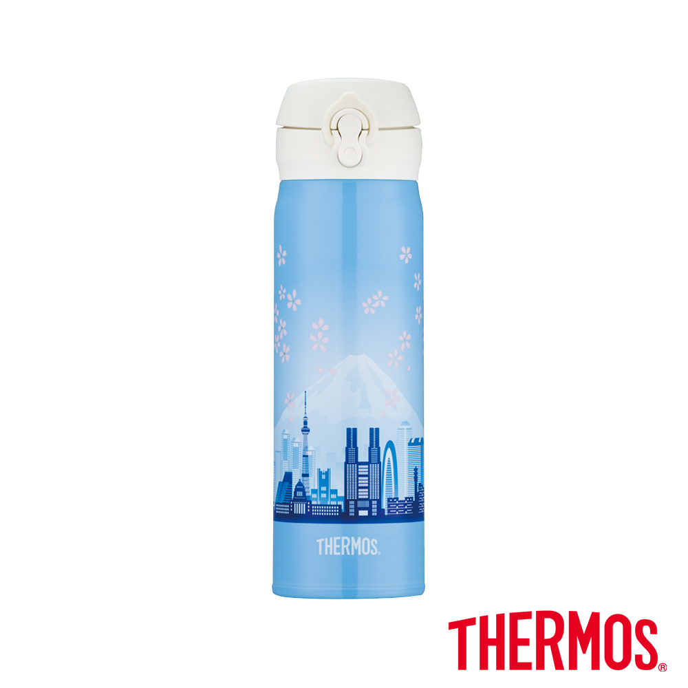 THERMOS膳魔師超輕量東京篇限量不鏽鋼保溫瓶0.5L(JNL-500-TKY)