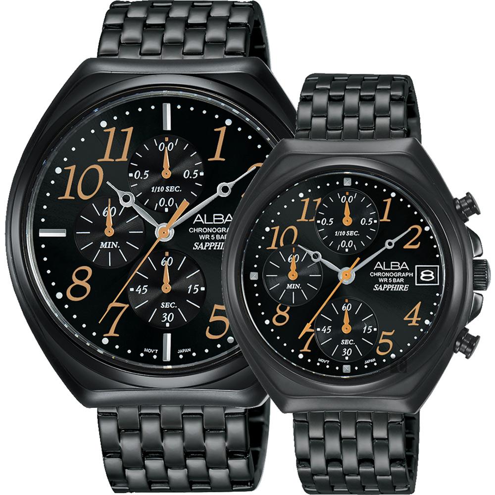 ALBA雅柏 東京情人計時對錶(AM3525X1+AM3527X1)
