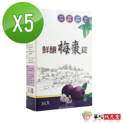 華陀寶華堂 鮮釀梅棗錠5盒(30/盒)