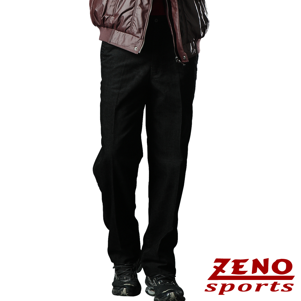 ZENO 精選斜紋輕光澤保暖長褲‧深咖啡32~40