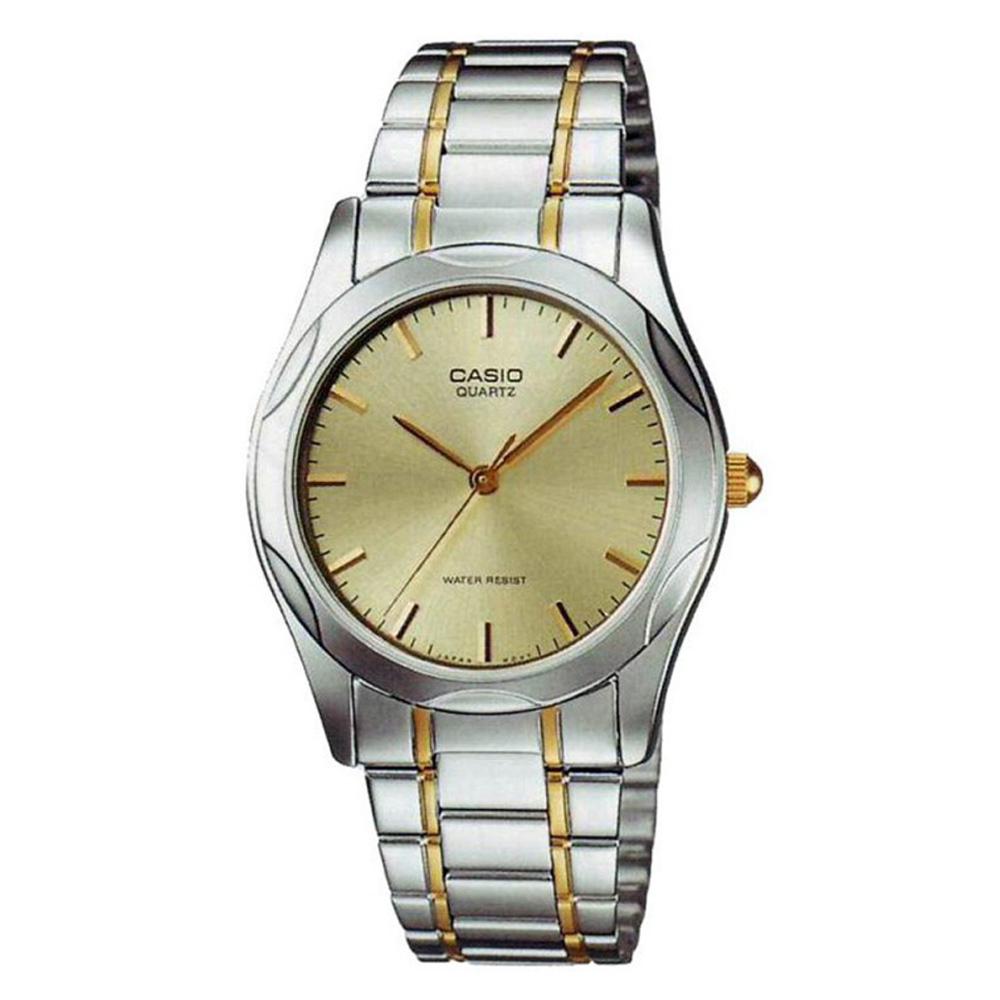 CASIO 時尚輝煌指針紳士錶(MTP-1275SG-9A)-黃面