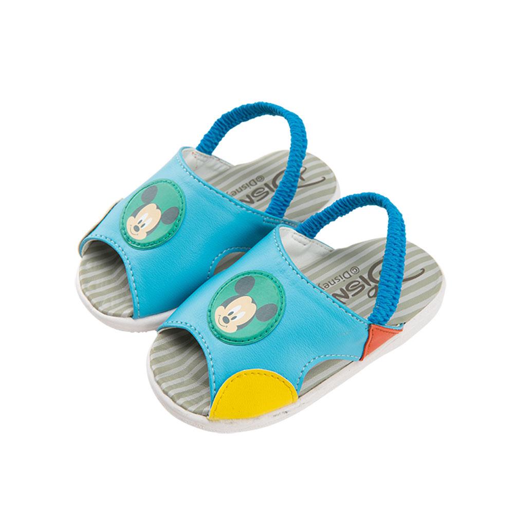 迪士尼童鞋 米奇 經典嗶嗶涼鞋-藍
