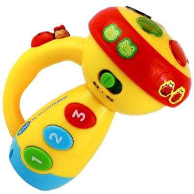 Funny Flashlight 音樂聲光手電筒造型兒童成長趣味玩具
