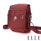 ELLE 法式優雅時尚 旅行隨身收納包/票券包/手機包-酒紅色EL83473
