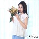 Victoria 真二件式蕾絲背心短袖T-女-白色