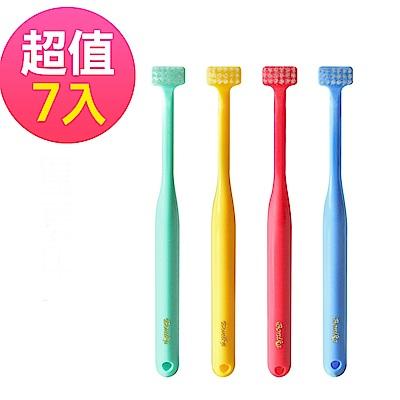 日本BONIKA兒童T型牙刷 超值7入 顏色隨機