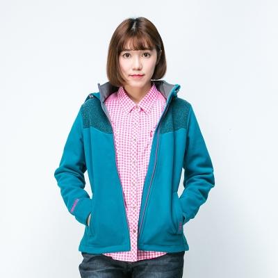 歐都納WINDSTOPPER女防風保暖外套 A-G1560W 藍綠