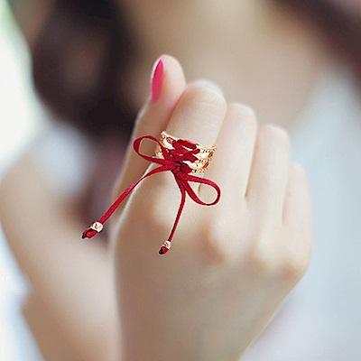Hera 赫拉 韓版個性本命年系帶可調式戒指金色