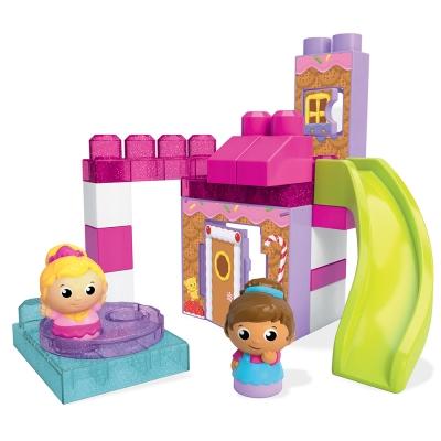 MEGA-BLOKS-美高滑梯高樓積木遊戲組-女孩