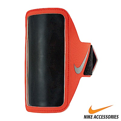 NIKE 輕量手機萬用臂包 紅/銀