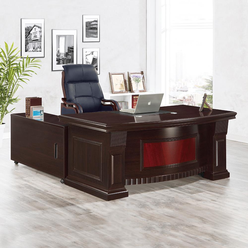 Bernice-柯萊主管辦公桌組合(辦公桌+側邊櫃+活動櫃)-181x93x77cm