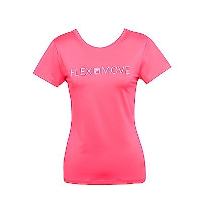 FILA 女抗UV吸濕排汗T恤-桃 5TES-1313-PC