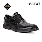 ECCO LISBON 防水雕花紳士商務正裝鞋-黑