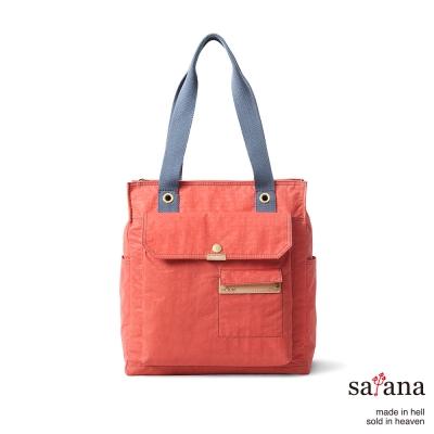 satana - 機能肩背包/托特包 - 珊瑚紅