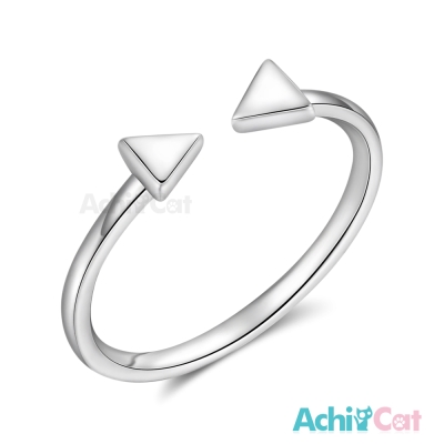 AchiCat 925純銀戒指尾戒 簡約三角