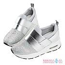Robinlo & Co. 高調閃鑽內增高休閒鞋 銀色