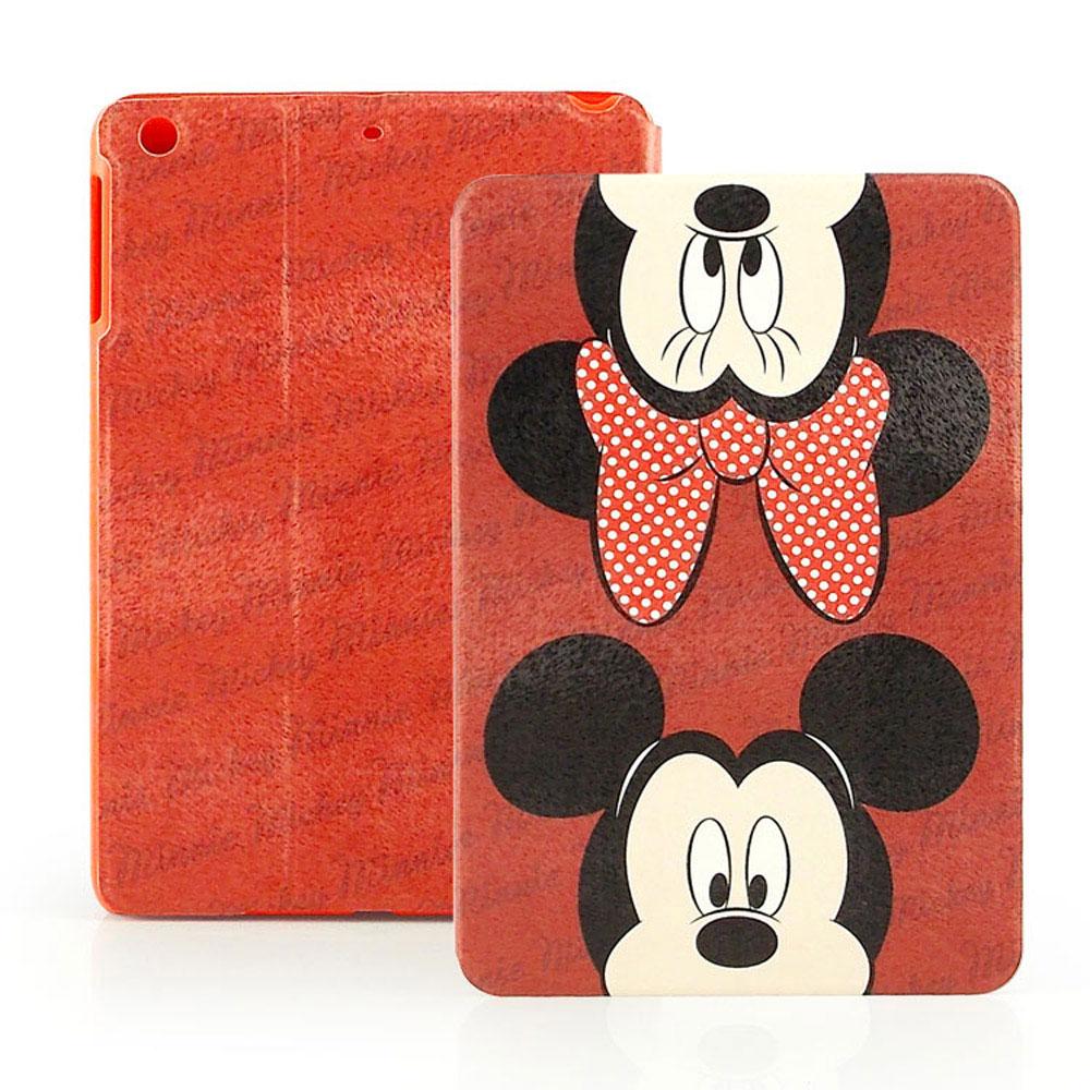 Disney Apple iPad mini2 可愛米奇米妮彩繪側掀可立式皮套