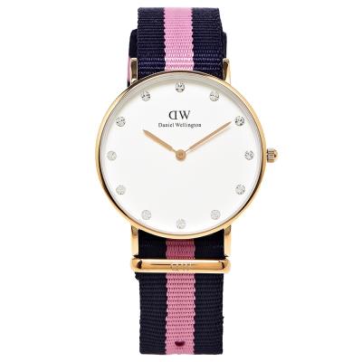 DW Daniel Wellington 甜美款施華洛世奇水鑽女性手錶 -白/34mm