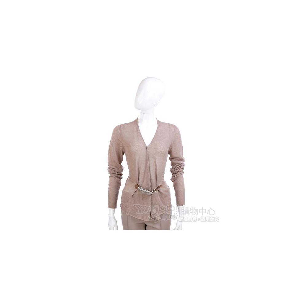 FABIANA FILIPPI 可可色釦飾設計針織外套