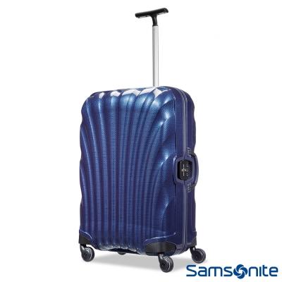 Samsonite新秀麗-25吋Lite-Locked極輕Curv四輪拉桿貝殼硬殼箱-藍