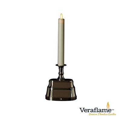 Veraflame 擬真火焰長條蠟燭台- 13吋(銀)