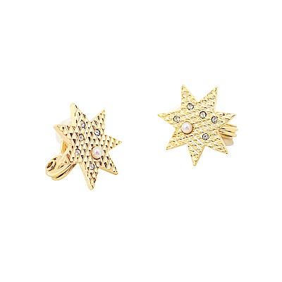 JewCas Brillante系列星形耳環(空氣耳夾)_JC2786