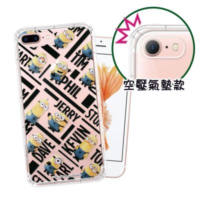 正版Minions小小兵 iPhone 8 Plus/ 7 Plus 空壓安全手...