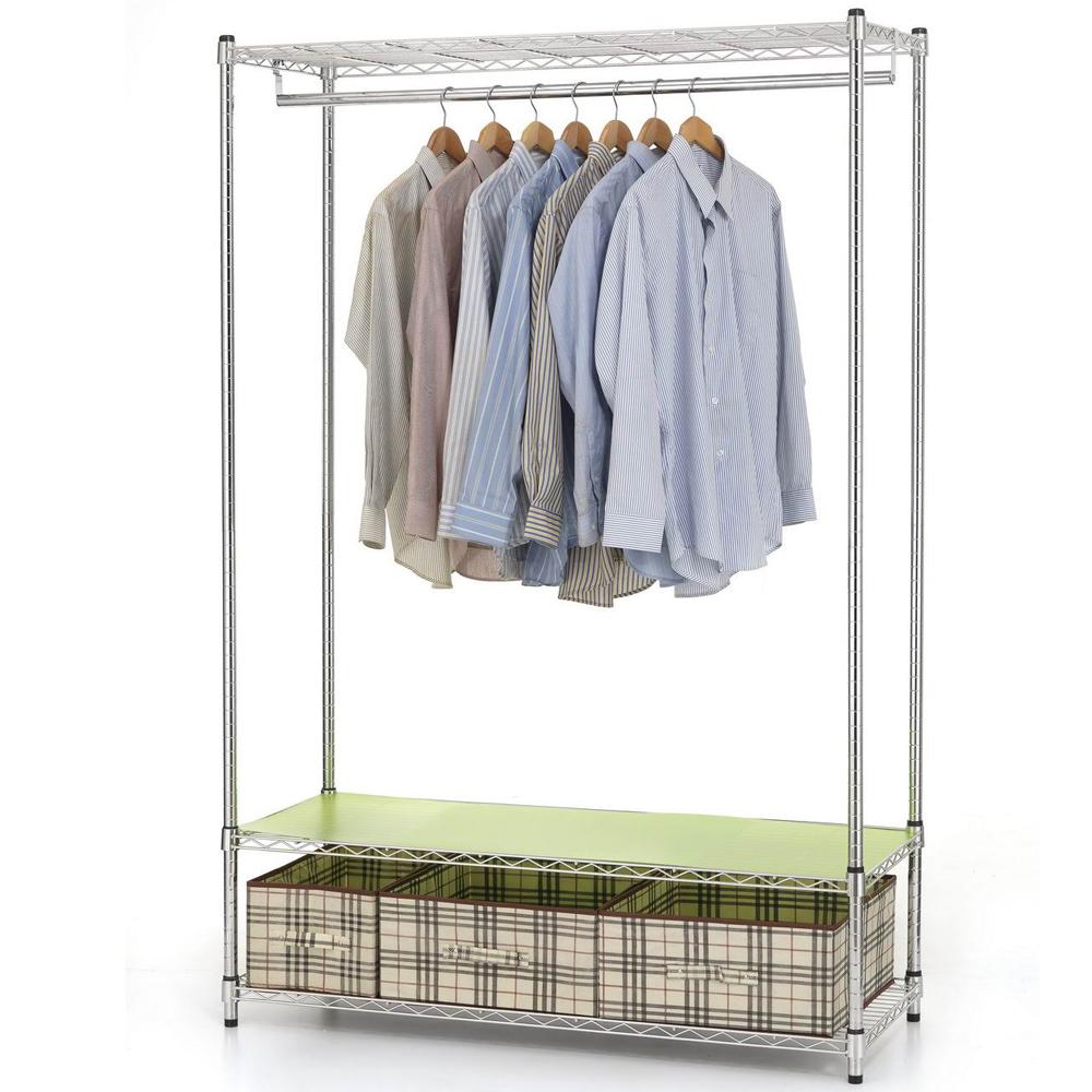 《百變金鋼》120*45*180大型收納衣櫥架
