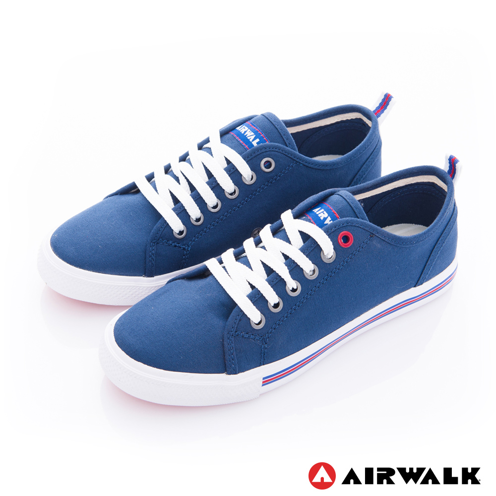 【AIRWALK】美式百搭休閒帆布鞋-女款-藍色