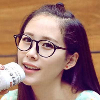Aimee-Toff-韓版復古小清新校園派平光眼鏡