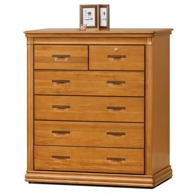 愛比家具 尼爾檜木3.5尺六斗櫃