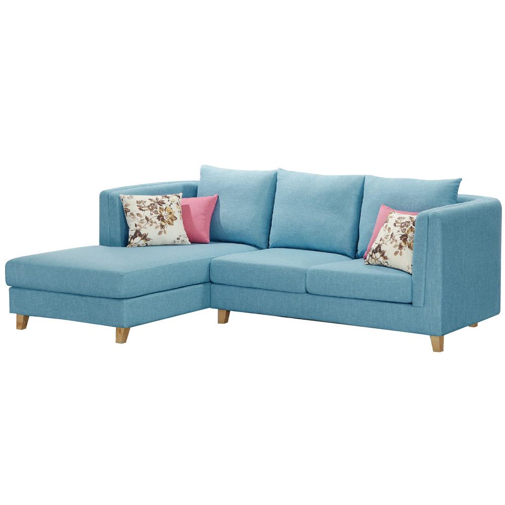 沙發 L型 雅典 藍色布面 左右可選L型沙發 品家居