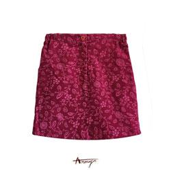 Anny粉色精靈系圖騰壓紋短裙*4426粉