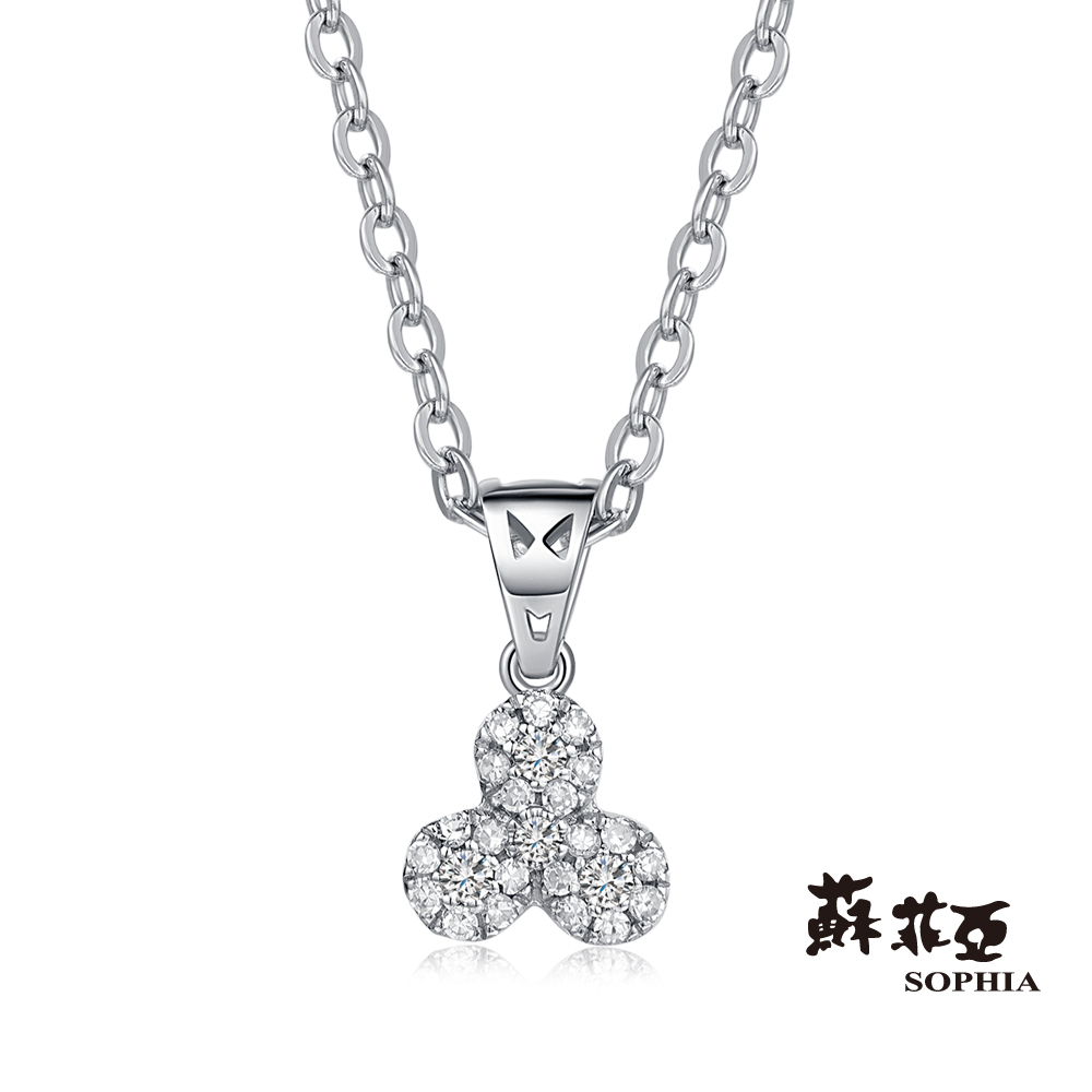 蘇菲亞SOPHIA 鑽鍊 - Yumi系列三 0.20克拉鑽石項鍊